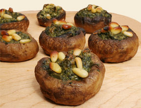 Vegan Spinach Stuffed Mushrooms
