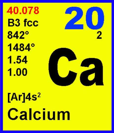 20 Calcium Ca Elements4kids