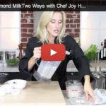 Almond Milk Two Ways