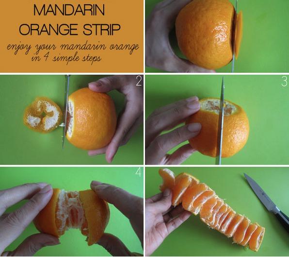 how to cut mandarins