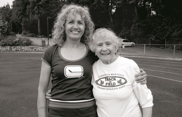 PHOTOGRAPH COURTESY OF BARB VIDA KOTELKO WITH HER TRAINER, BARB VIDA.