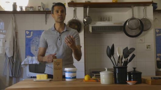 "Dr. Aseem Malhotra likes butter in his coffee and advocates for saturated fat as part of a heart-healthy diet. Photo credit: ""The Big Fat Fix"""