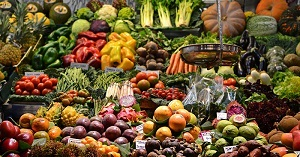 Benefits of being a vegetarian: A wide variety of fruits and vegetables exists.