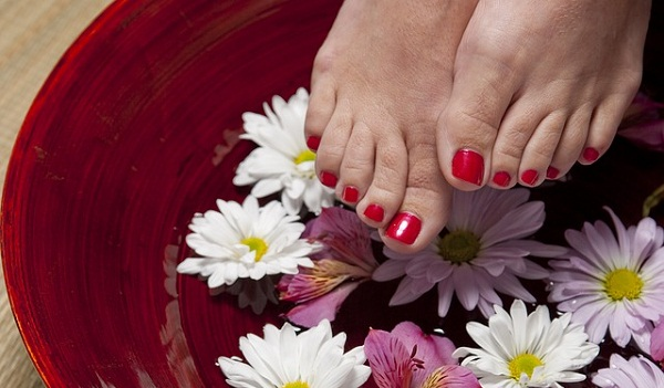 An essential oil foot bath or foot rub is a great way to relax after a long day.