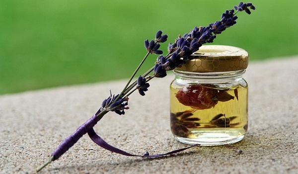 Lavender essential oil is commonly used for tension, anxiety, and stress.