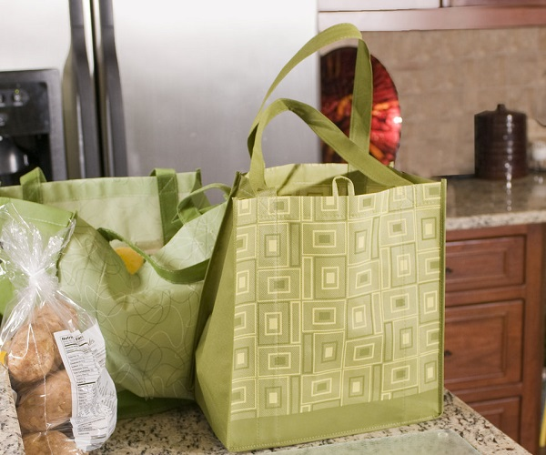 Switch to reusable shopping bags to cut down on plastic use.