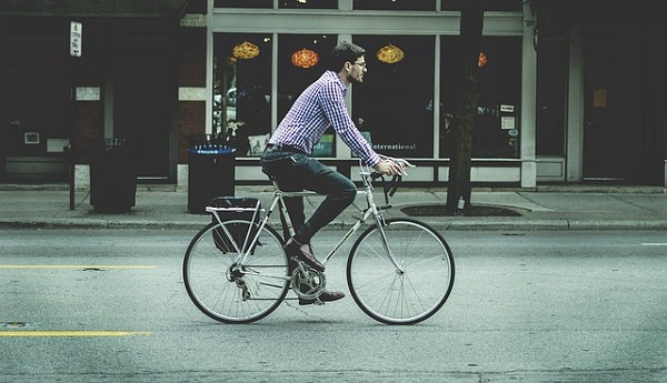 Consider biking to work: you'll get your workout and reduce your carbon footprint at the same time—win-win!