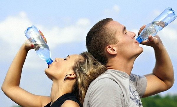Constipation is one of the first symptoms of dehydration, so drink up!