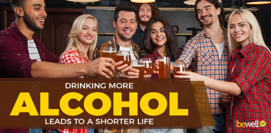 Drinking More Alcohol Leads to A Shorter Life