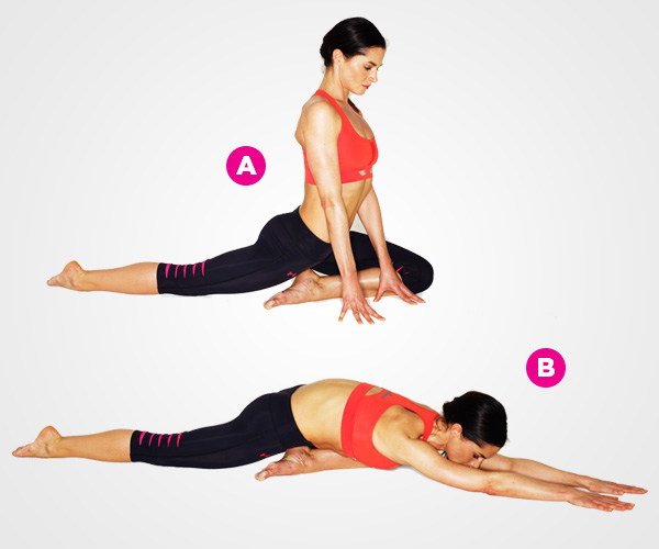 Soothing yoga lengthens the spine to reduce stiffness and bring relief from lower back pain and bad posture.