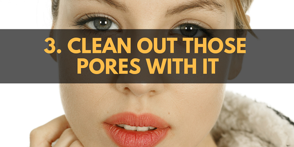 Clean out those pores with Epsom salt.